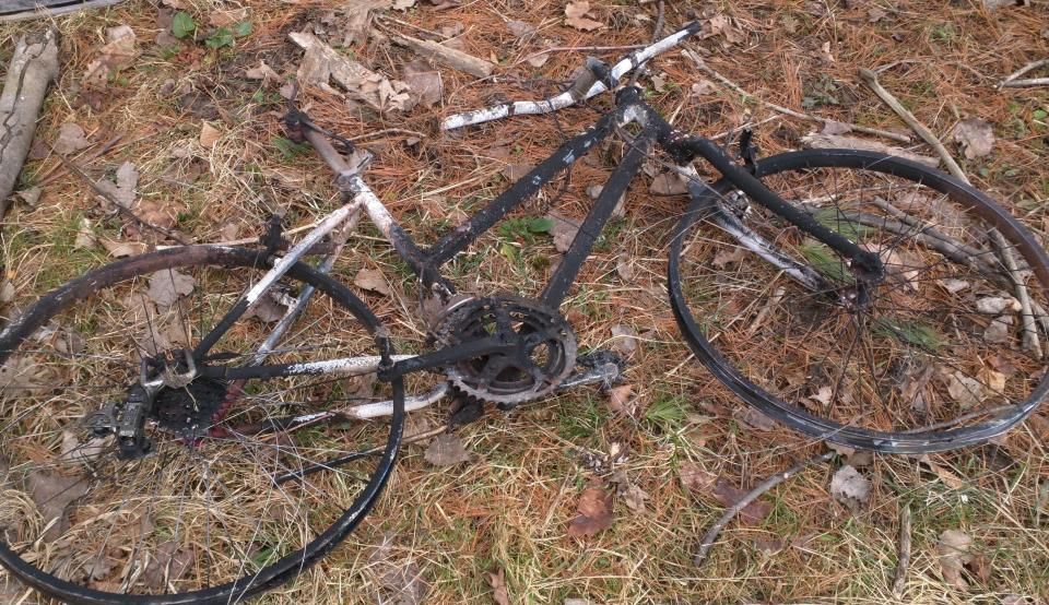 burned bicycle