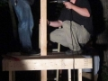 Jon and Fred Secure the beam that will support the Thunderlizard