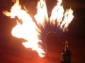 Firey croquet wicket